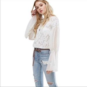 Free People | Poetry in Lace Long Sleeve Blouse